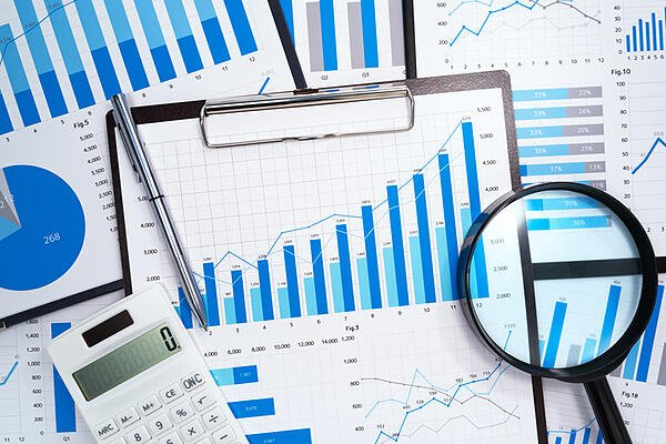 Graphs of numbers used in nonprofit accounting